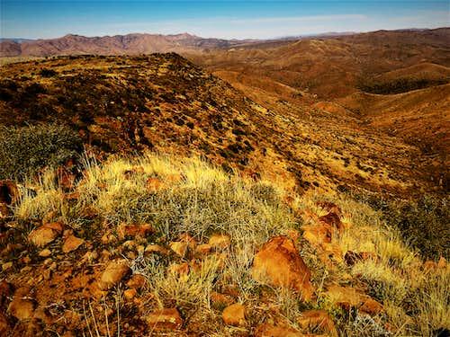 East side of Quien Sabe Peak ridge