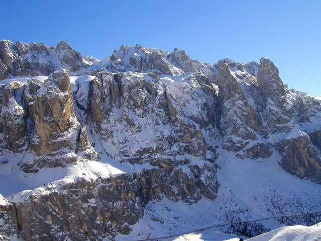 Mountains of Sella group...