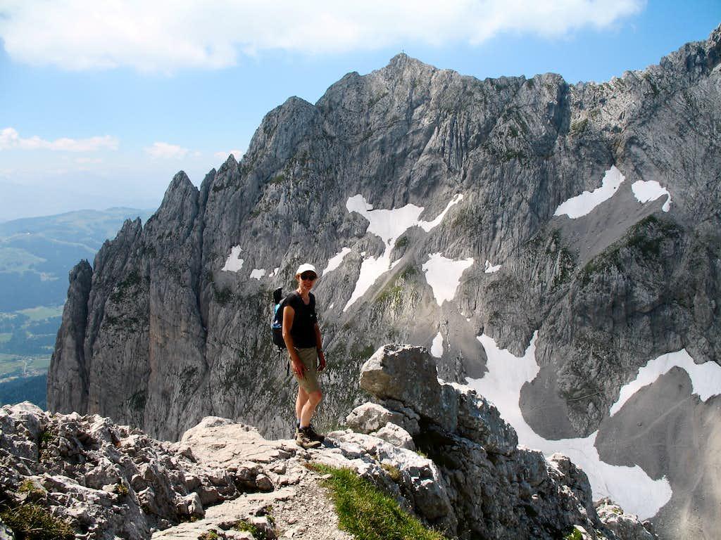 Descending from Hintere Goinger Halt (2192m)