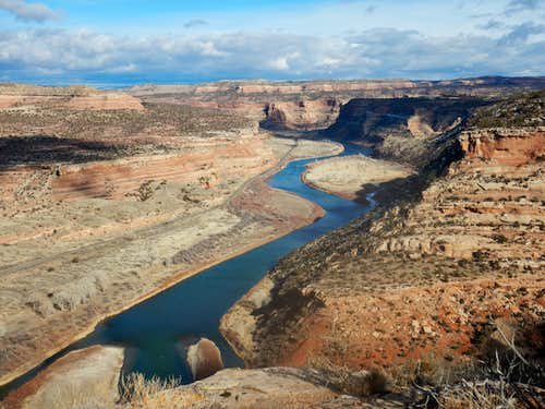 The Colorado River (Horsethief Canyon) as viewed from the benches above McDondald Canyon.