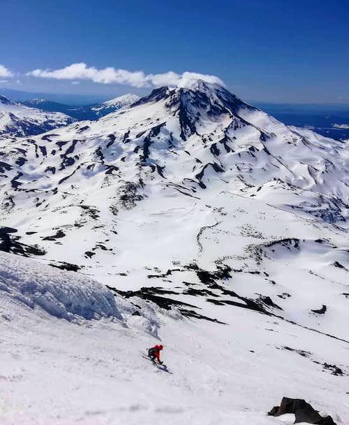 Ski Descent, Middle Sister, South Side