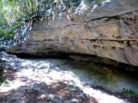 The ancient river bed of the Sarca river in the Paleozoic