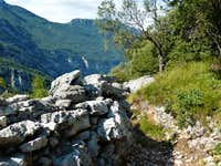 Bosco Caproni WWI trench and Sarca valley walls
