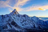 Ama Dablam, Sunset