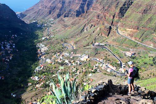 Looking down on Valle Gran Rey, La Gomera.