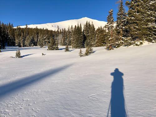 Skinning towards Homestake Peak