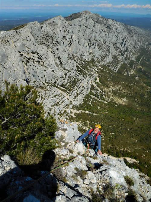 Exit to the summit of Baou des Vespres
