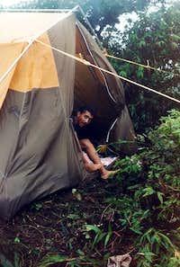 Tent on Mount Saint Catherine