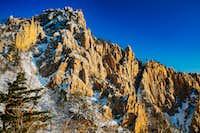 Rocky cliffs in winter at Seoraksan National Park