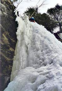 Me climbing Giddyup on a COLD...