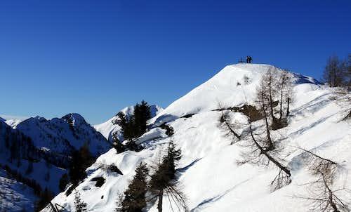 Alpinists on the summit of Cima Pissola
