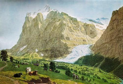 Wetterhorn painting, circa 1808.