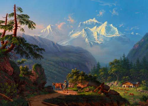 Jungfrau massiv 1837