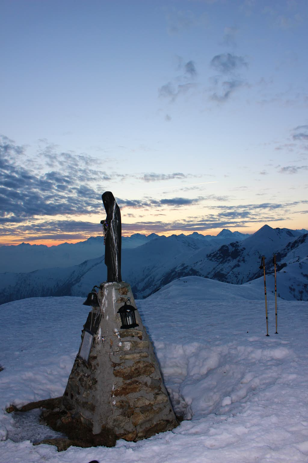 Monte Soglio summit - winter 2020