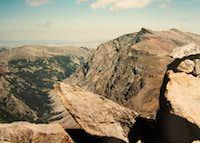 Whitetail Peak summit lkg NNE to Silver Run Peak Aug86
