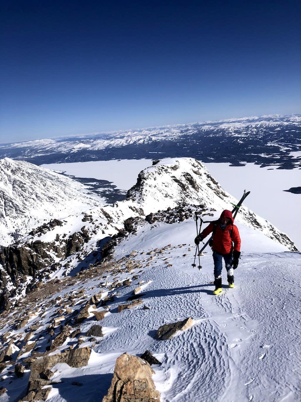 Nearing the Summit of Moran