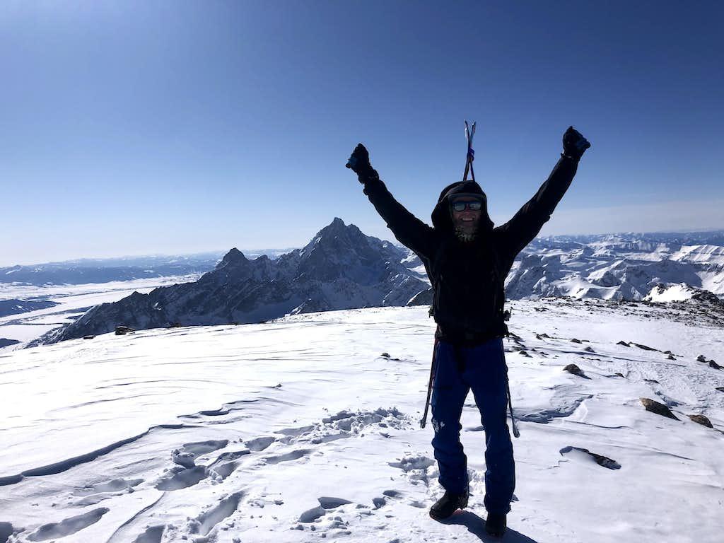 Summit of Moran, Looking South at Grand Teton