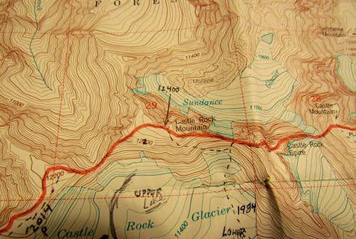 USGS topo Castle Mtn