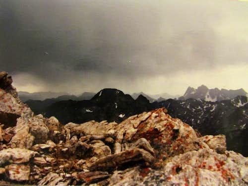 Mt Cowen from summit of Black Mtn