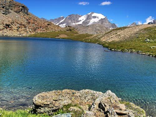 Gran Paradiso range from the shore of Leynir