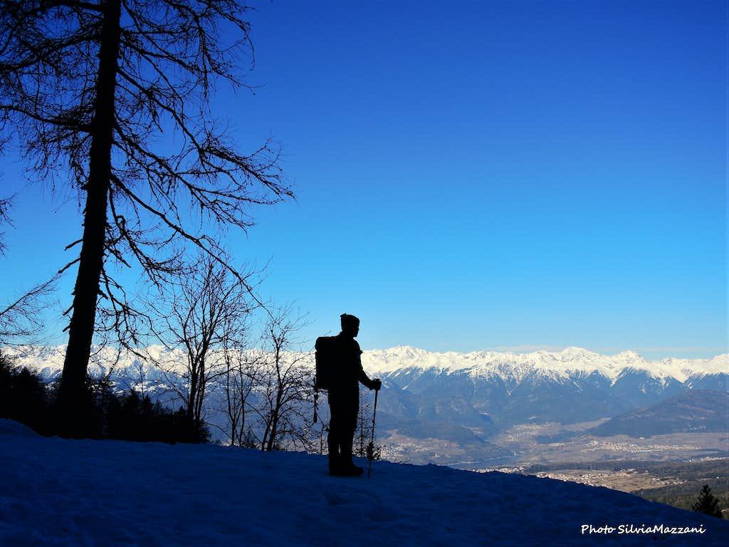 Corno di Tres, admiring the broad Western horizon