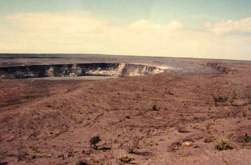crater south of the active one
