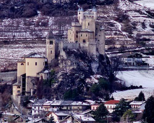 Saint Pierre castle seen from Aymavilles