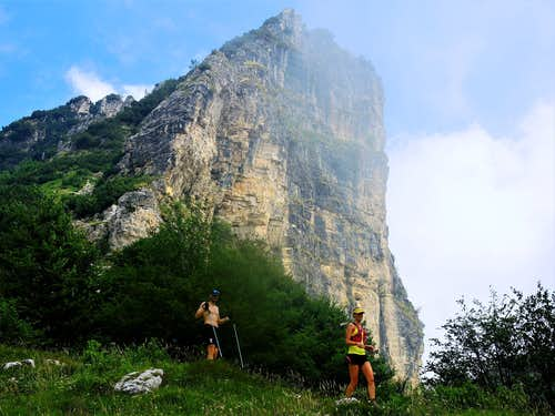 The impressive East wall of Sisilla, Little Dolomites