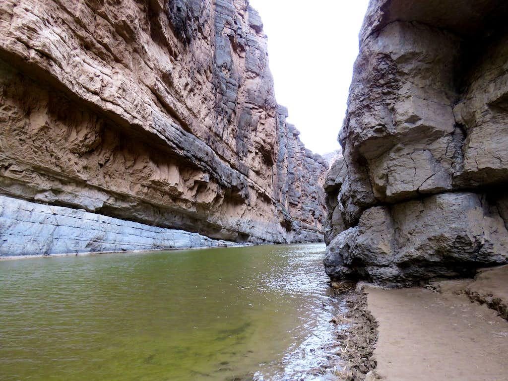 End of Santa Elena Canyon Trail