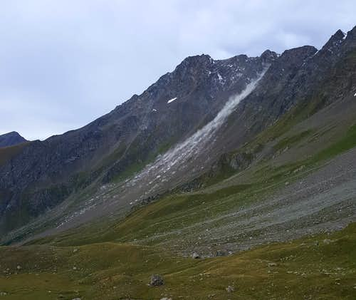 Landslide from Horns of Mont Velan