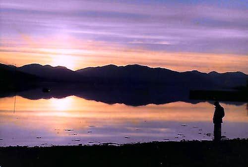 Loch Eil. Sunset over the Loch