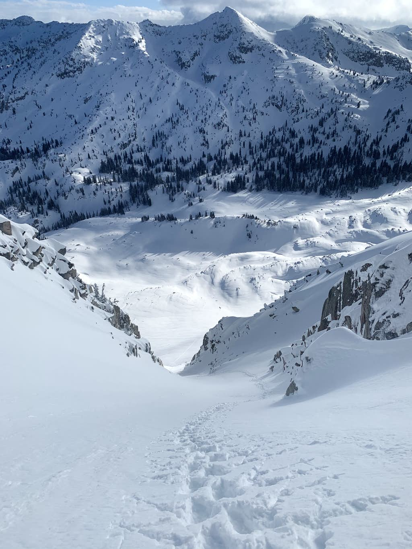 Lone Peak NE Couloir Ascent