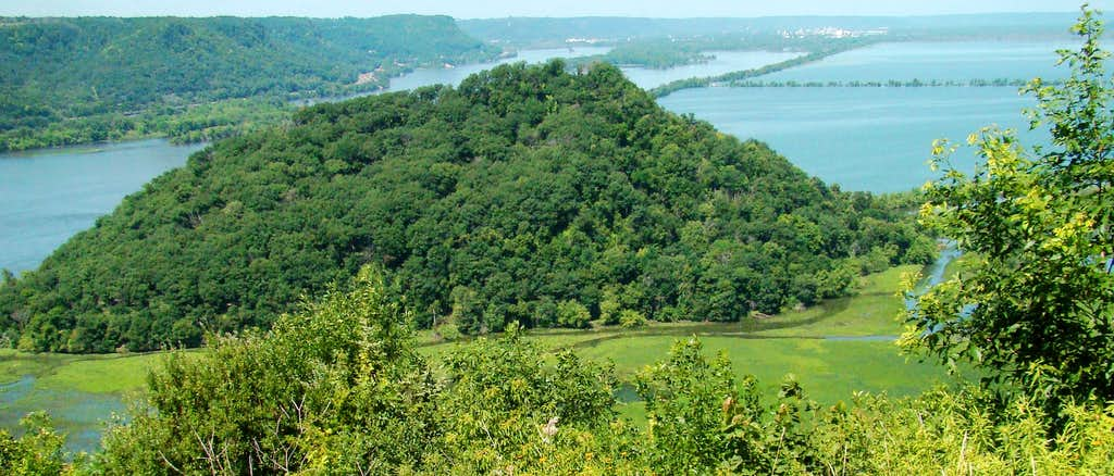 Trempealeau Mountain View from Brady's Bluff