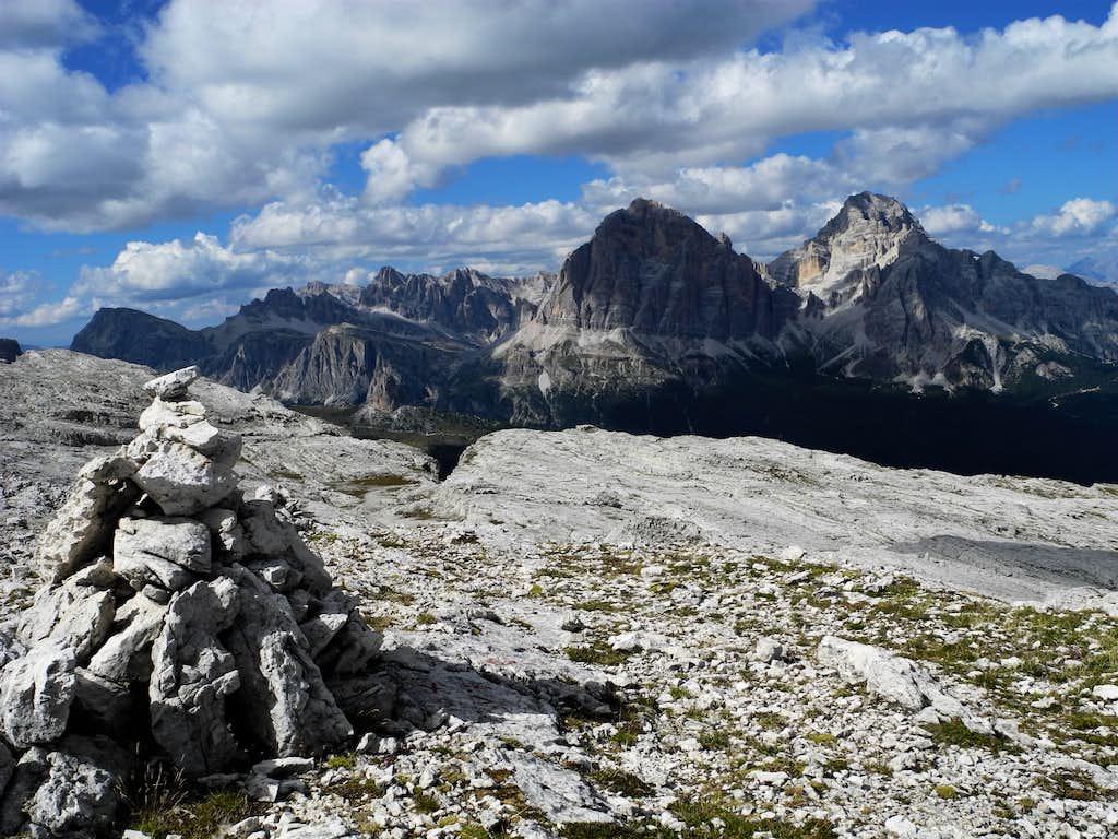 The Tofane seen from Lastoni di Formin