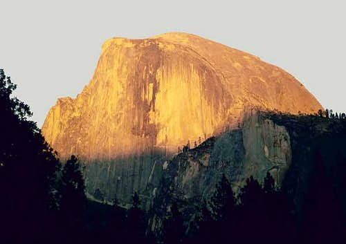 Halfdome at sunrise from...