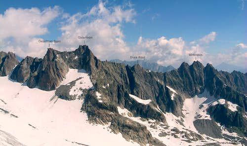 Gletschhorn - Winterstock ridge labelled
