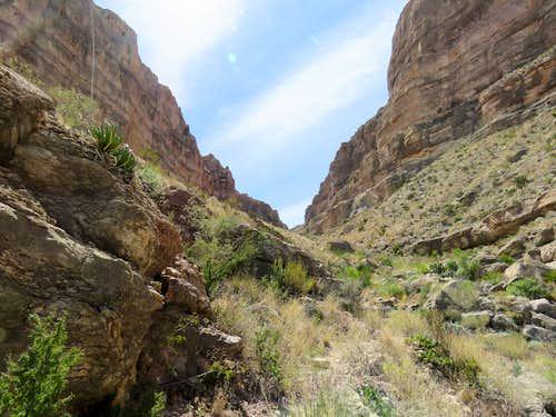 Tight canyon