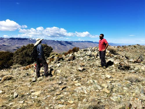 Phil and Piyush at the summit