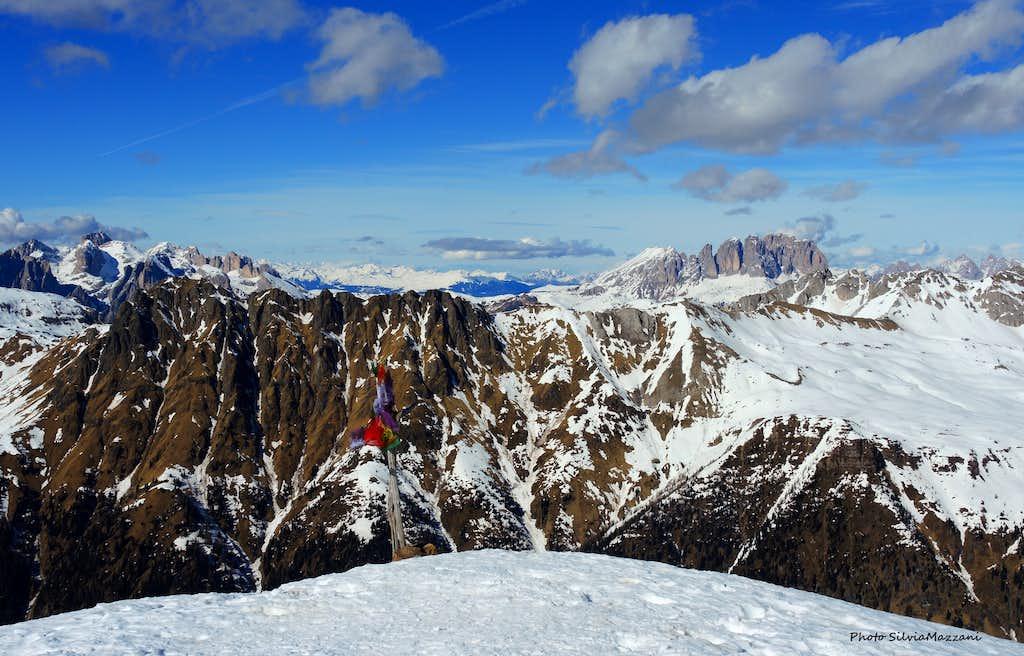 The summit of Cima Juribrutto