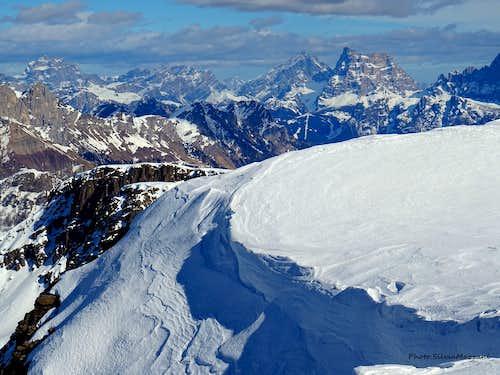 Snow frames on Cima Juribrutto