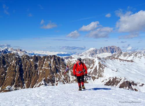 The flat summit of Cima Juribrutto