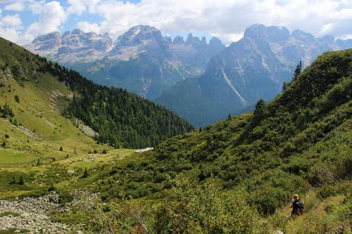 Descending towards Malga Valchestria