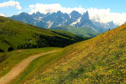 Pale di San Martino mountains