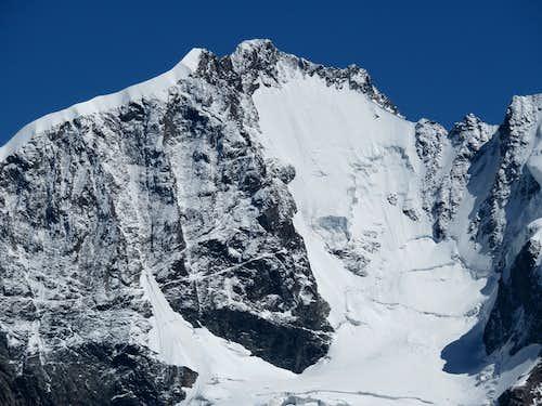 Large closeup of Piz Bernina