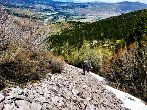 Hiking up the left side of Cone Peak