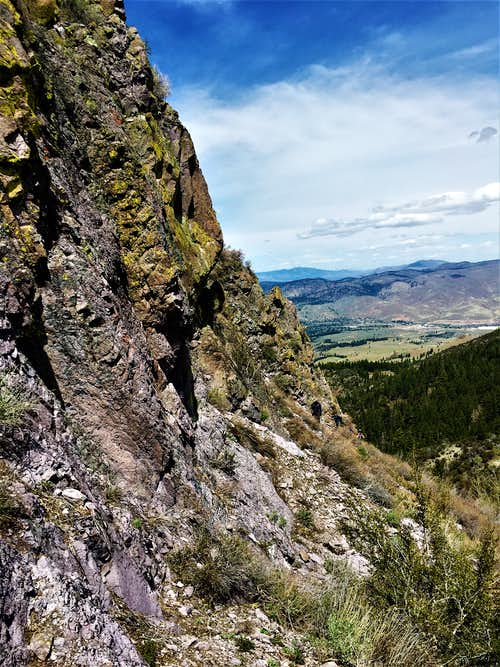 Hiking along the south side of Cone Peak