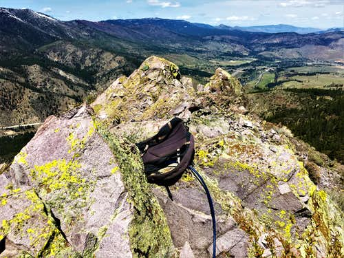 View north from the summit of Cone Peak