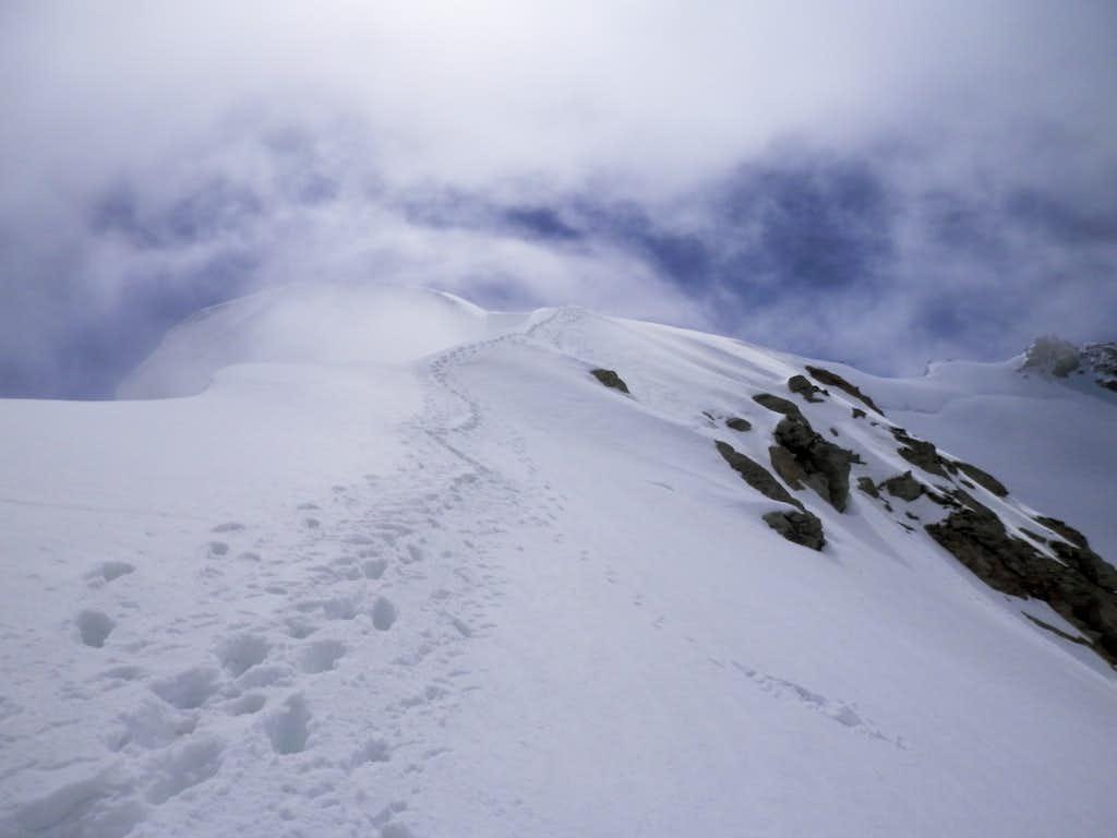 ridge to the summit