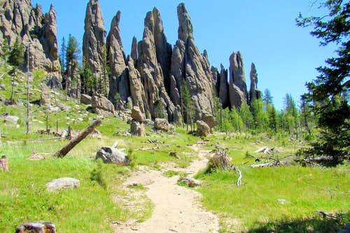 Cathedral Spires Trail View