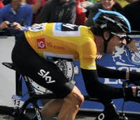 Wiggo going for the finish.3